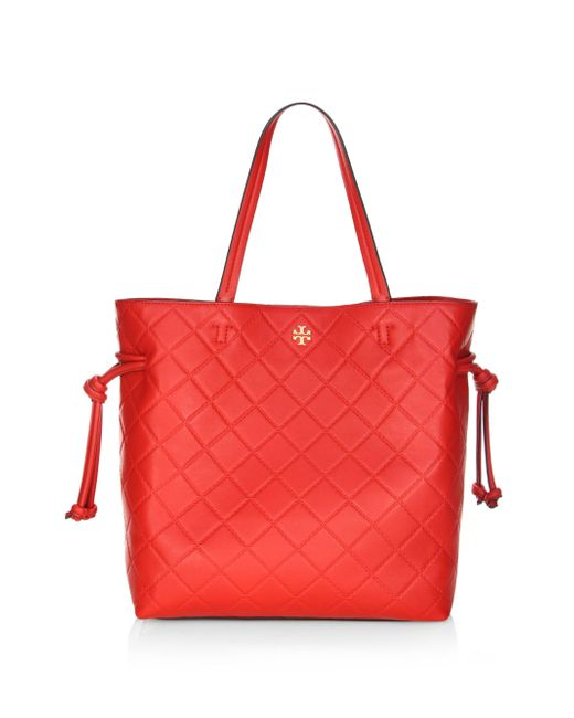 Tory Burch - Red Georgia Slouchy Leather Shoulder Bag - Lyst