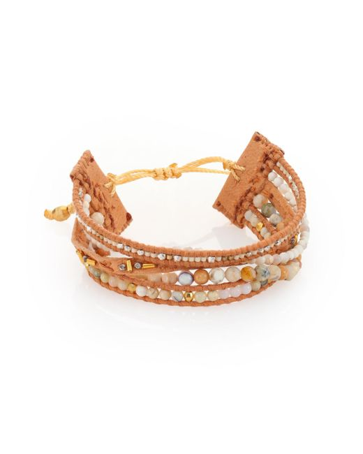 Chan Luu - Natural Semi-precious Stone Mix Leather Bracelet - Lyst