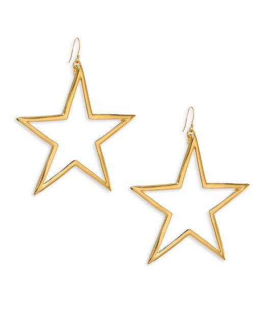Kenneth Jay Lane - Metallic Open Star Drop Earrings - Lyst