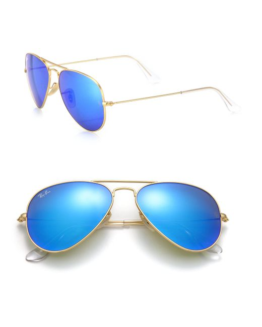 Ray-Ban - Blue Original Aviator Sunglasses - Lyst