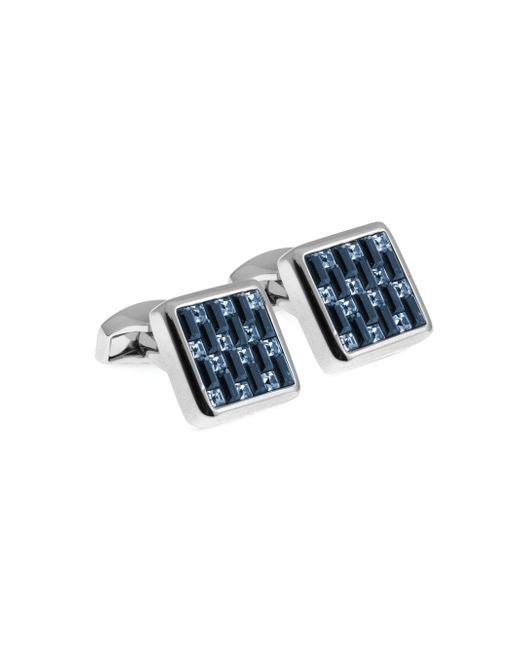 Tateossian | Blue Swarovski Interlock Cuff Links for Men | Lyst