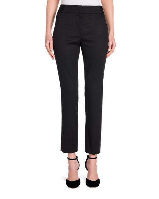 Giorgio Armani | Black Magic Straight Virgin Wool Ankle Pants | Lyst