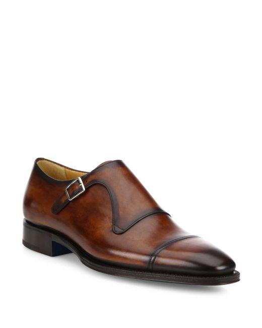 Men S Single Buckle Monk Strap Shoes