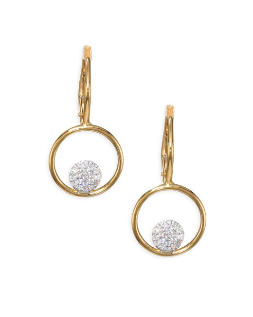 Phillips House - Metallic Affair Diamond Micro Infinity Loop Earrings - Lyst