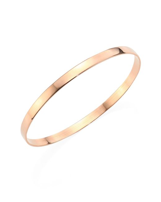 Lana Jewelry - Pink Medium Vanity 14k Rose Gold Bangle Bracelet - Lyst