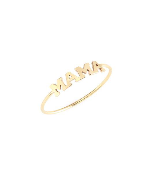 Zoe Chicco - Metallic Mama 14k Yellow Gold Ring - Lyst
