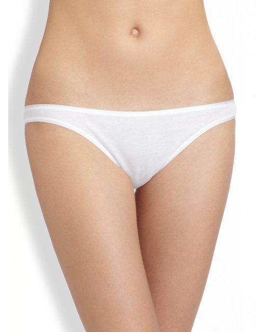 Hanro - White Cotton Seamless High-cut Brief - Lyst
