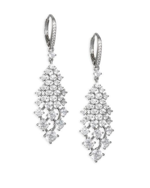 Adriana Orsini - Metallic Leia Crystal & Rhodium-plated Drop Earrings - Lyst