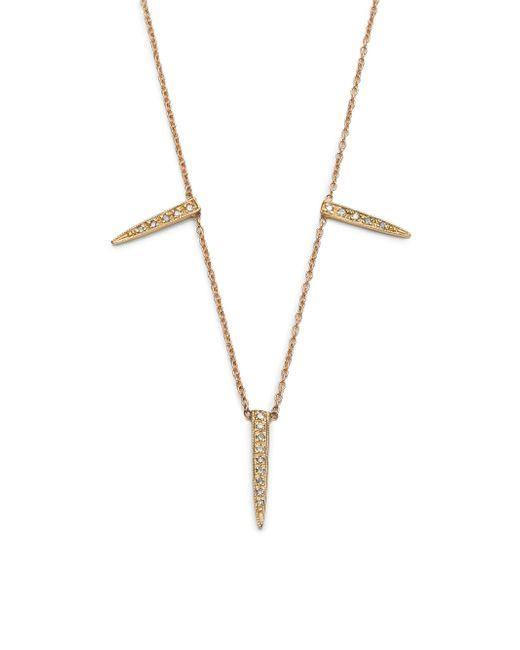Jacquie Aiche - Metallic Diamond & 14k Yellow Gold Three Ice Pick Necklace - Lyst