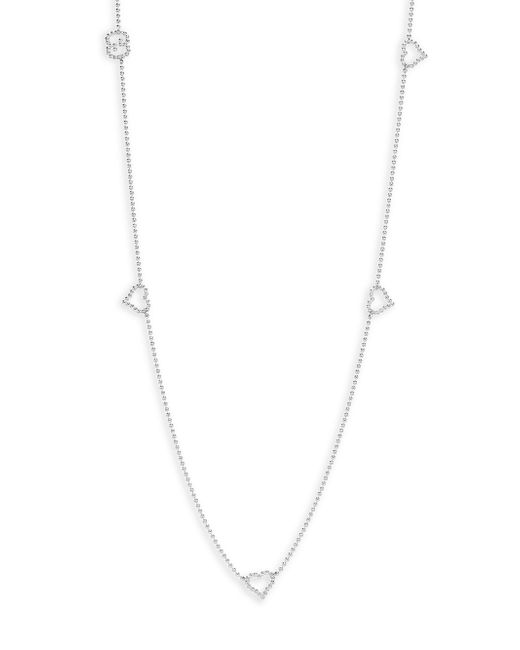 Gucci | Metallic Boule Heart & Interlocking G Sterling Silver Station Necklace | Lyst