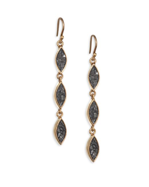 Shana Gulati - Metallic Banjara Three Tier Linear Drop Earrings - Lyst
