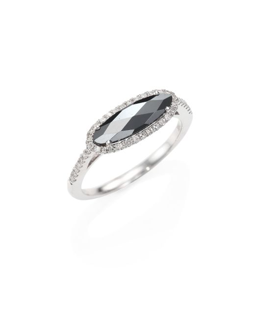 Meira T - Metallic Diamond, Hematite & 14k White Gold Ring - Lyst