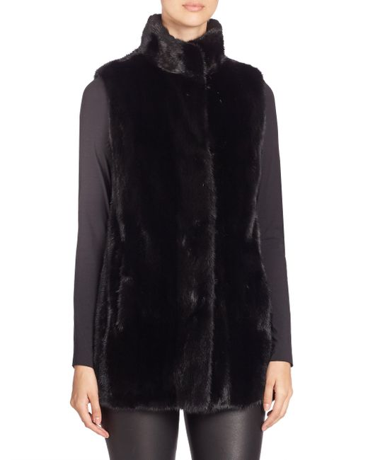 Saks Fifth Avenue - Multicolor Mink Fur Vest - Lyst