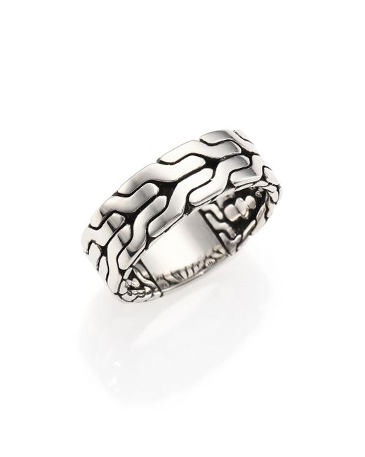 John Hardy - Metallic Classic Chain Sterling Silver Band Ring for Men - Lyst