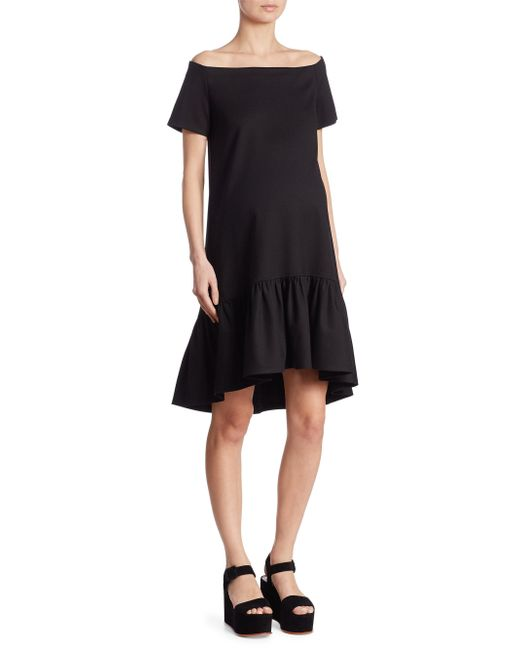 HATCH - Black Harbor Off-the-shoulder Dress - Lyst