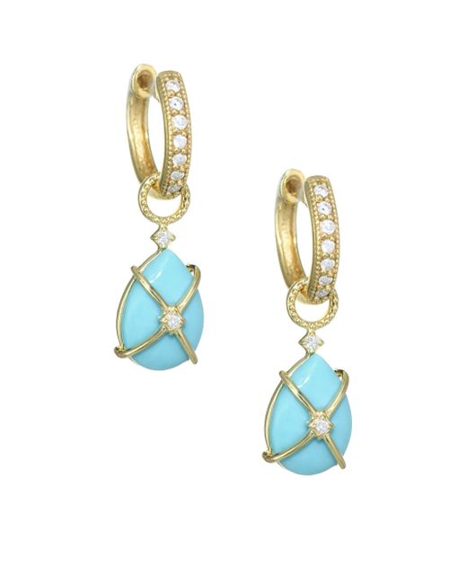 Jude Frances - Metallic Diamond, Turquoise & 18k Yellow Gold Earring Charms - Lyst