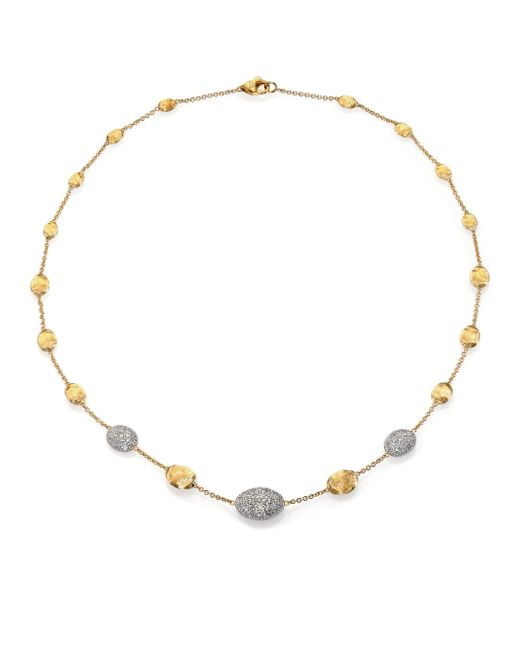 Marco Bicego | Metallic Siviglia Diamond, 18k White & Yellow Gold Station Necklace | Lyst