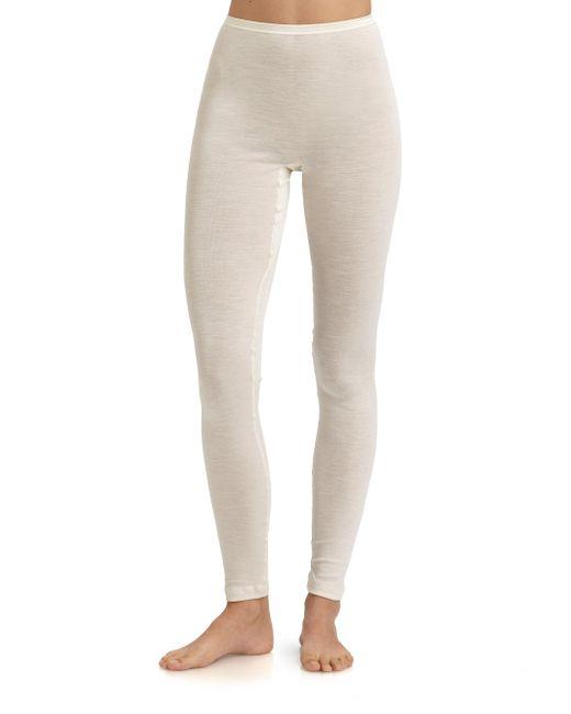 Hanro - White Woolen Silk Leggings - Lyst