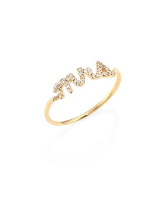 Sydney Evan | Metallic Mrs. Diamond & 14k Yellow Gold Ring | Lyst