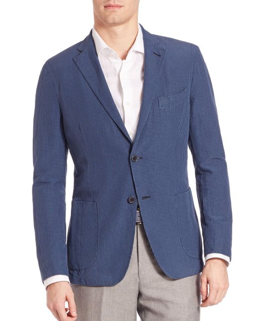 Saks Fifth Avenue | Blue Seersucker Sportcoat for Men | Lyst