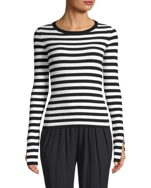 Michael Kors - Women's Three-quarter Sleeve Top - Black - Size Xs - Lyst