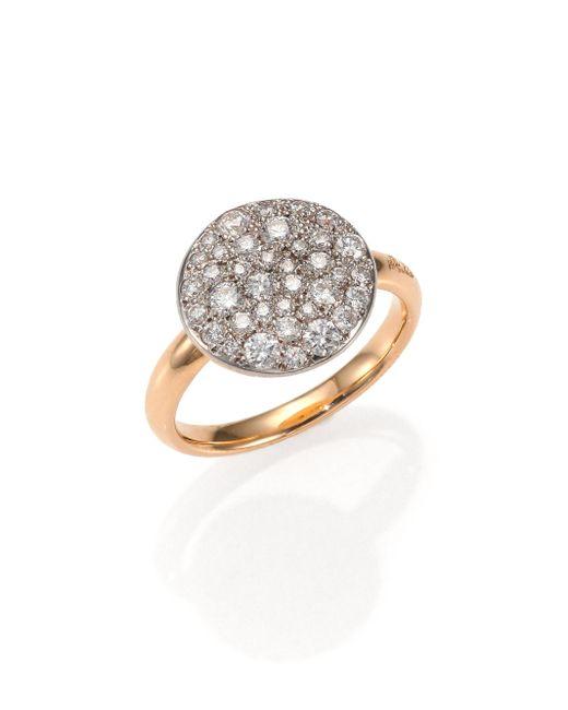 Pomellato - Pink Sabbia Diamond & 18k Rose Gold Ring - Lyst
