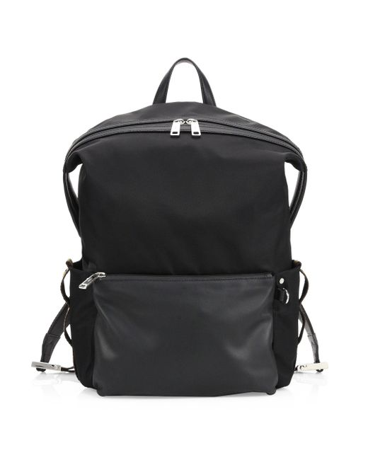 Fendi - Black Vitello Century Nylon Santander Backpack for Men - Lyst