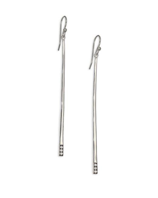 Ippolita - Metallic Glamazon Stardust Diamond & Sterling Silver Bar Drop Earrings - Lyst