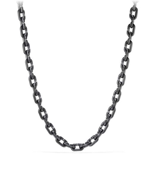 David Yurman - Metallic Titanium And Sterling Silver Streamline Large Link Necklace - Lyst