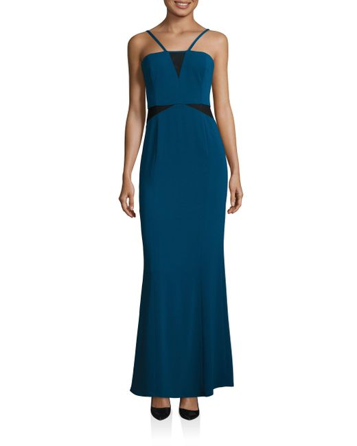 Laundry by Shelli Segal | Multicolor Mesh Insert Gown | Lyst