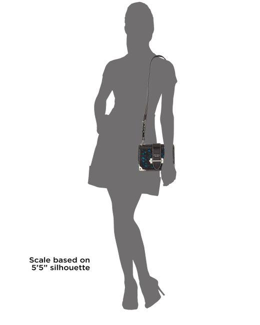 ac7f9b86454c Lyst - Prada Women s Cahier Laser-cut Leather Crossbody Bag - Black ...