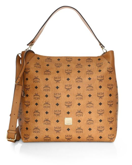 MCM - Brown Large Klara Visetos Hobo Bag - Lyst