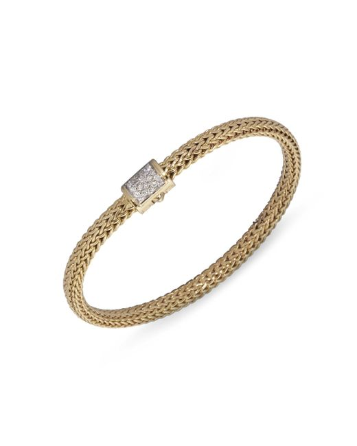 John Hardy - Metallic Classic Chain Diamond & 18k Gold Extra-small Bracelet - Lyst