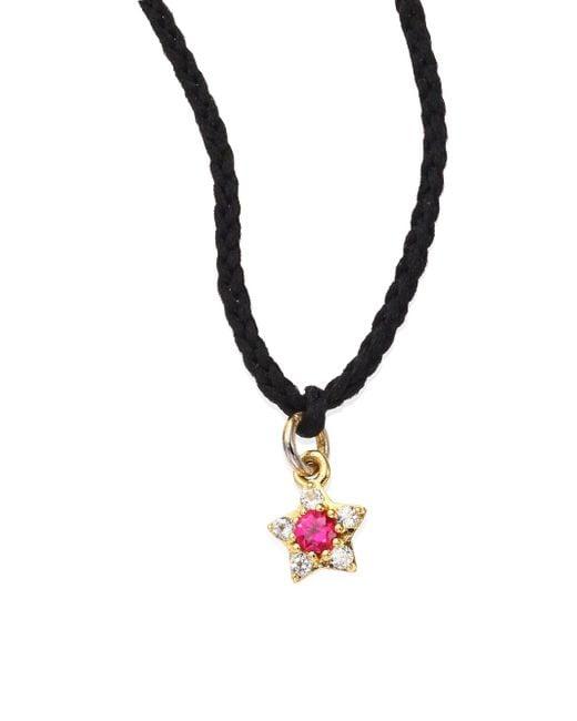 Elizabeth and James | Metallic Bassa Ruby & White Topaz Star Necklace | Lyst