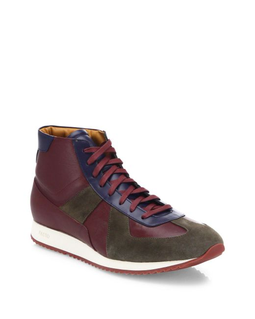 Facto | Multicolor Leather Lace-up High-top Sneakers for Men | Lyst