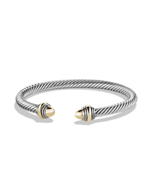 David Yurman - Metallic Cable Classics Bracelet With Gemstone And 14k Gold - Lyst