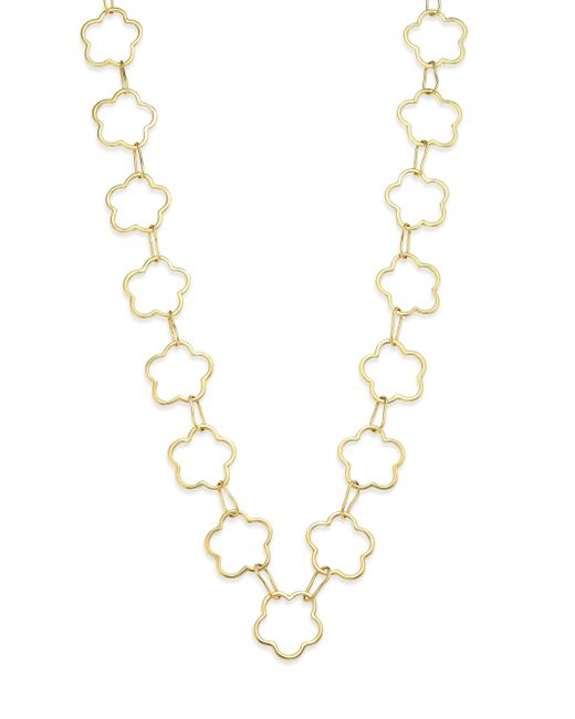 Vaubel - Metallic Connected Flower Link Necklace - Lyst