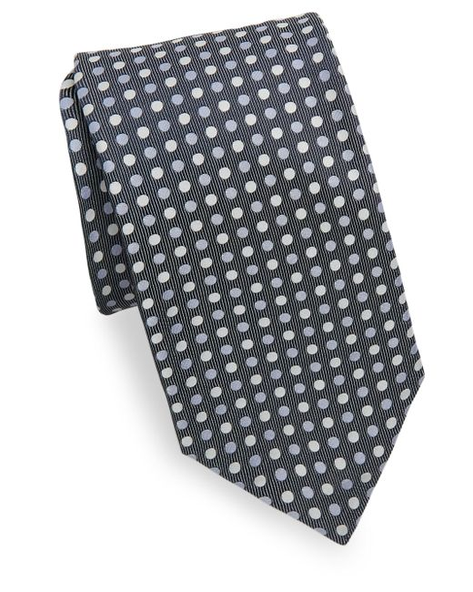 Isaia   Blue Three-tone Polka Dot Silk Tie for Men   Lyst