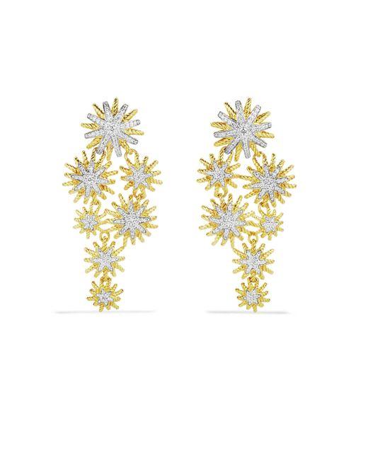 David Yurman - Metallic Staburst Cluster Earrings With Diamonds In Gold - Lyst