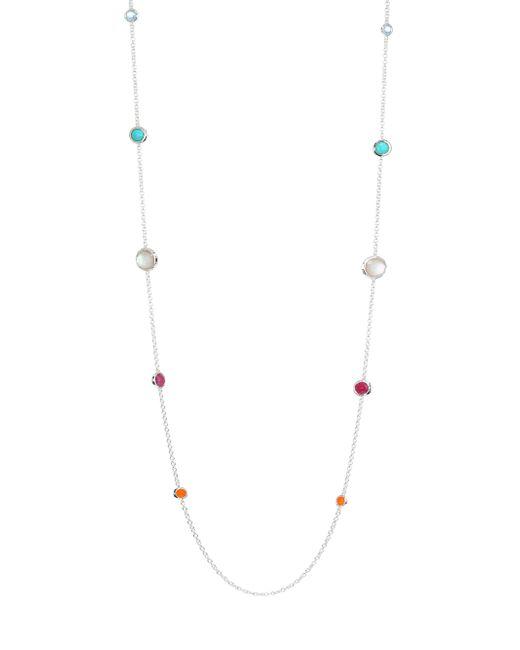 Ippolita - Metallic Rock Candy Graduated Lollipop Station Necklace - Silver - Lyst