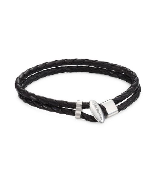 Saks Fifth Avenue - Black Collection Toggle Braided Leather Bracelet - Lyst