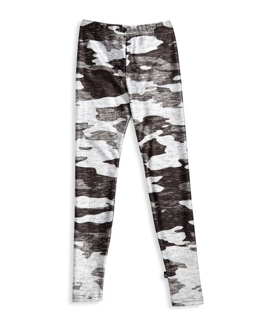 Terez - Gray Girl's Camouflage Leggings - Lyst