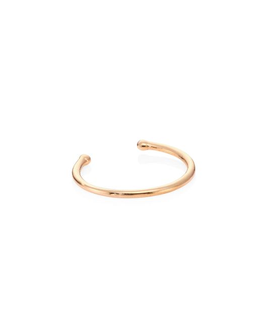 Kismet by Milka | Metallic Geometry 14k Rose Gold Single Ear Cuff | Lyst