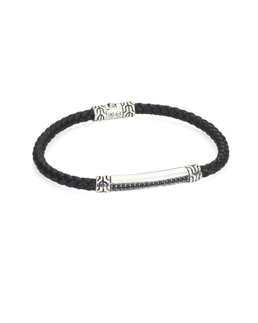John Hardy - Multicolor Classic Chain Collection Braided Sterling Silver Bracelet for Men - Lyst