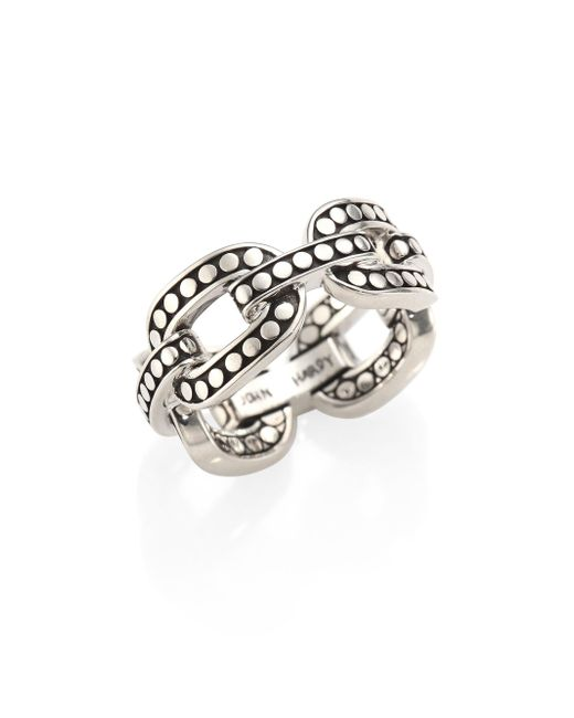 John Hardy - Metallic Dot Sterling Silver Band Ring - Lyst