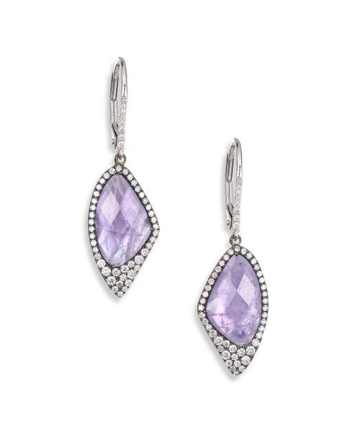 Meira T - Metallic Tanzanite Drop Earrings - Lyst