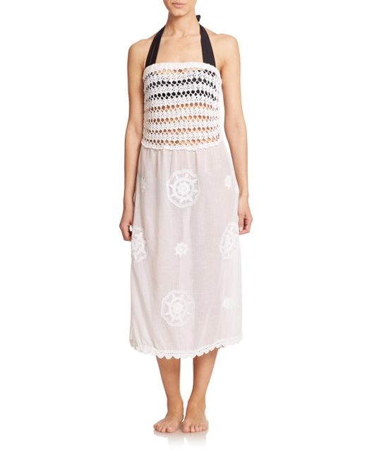OndadeMar | White Eden Hues Long Skirt | Lyst