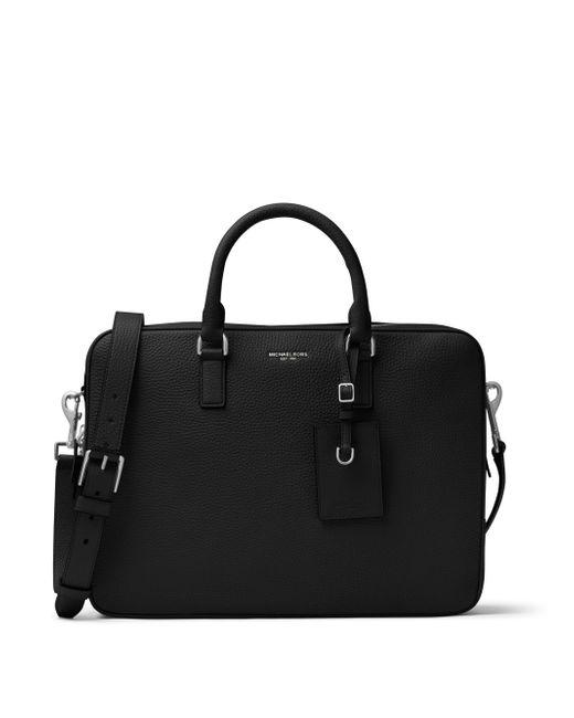 Michael Kors   Black Bryant Large Leather Briefcase for Men   Lyst