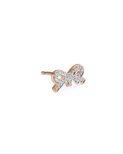 Ginette NY - Multicolor Single Tiny Diamond Bow Stud Earring - Lyst