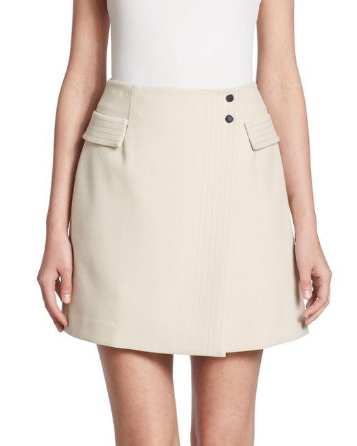 Armani Jeans | White Faux-wrap Skirt | Lyst